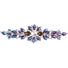 Crystal Motifs Floral 18cm Purple Aurora Borealis/gold
